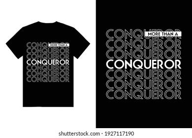 Conqueror Typography T Shirt Design