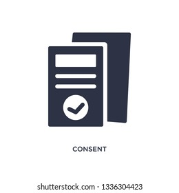 consent isolated icon. Simple element illustration from gdpr concept. consent editable logo symbol design on white background. Can be use for web and mobile.