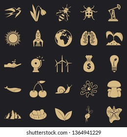 Conservationist icons set. Simple set of 25 conservationist vector icons for web for any design
