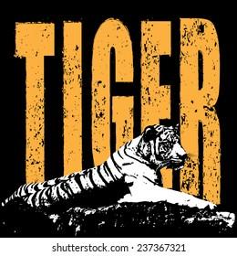 Conserve the tiger concept vector
