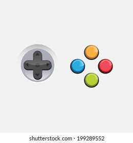 console game button - vector