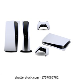 console game element vector play ps 5 playstation next gen controller