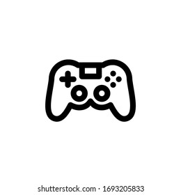 Console Joystick Controller Gaming Outline Icon Vector Illustration