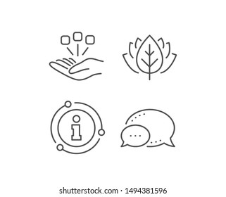 Consolidation line icon. Chat bubble, info sign elements. Business strategy sign. Linear consolidation outline icon. Information bubble. Vector