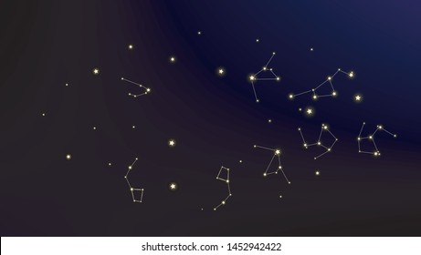 CONSTELLATIONS OF THE ZODIAC Astronomy Cosmos Educational Wall Chart POSTER