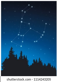 Constellation Orion in deep space
