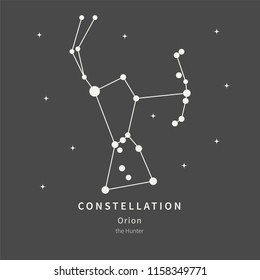 The Constellation Of Orion. The Hunter - linear icon. Vector illustration of the concept of astronomy