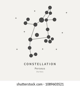 The Constellation Of Perseus. The Hero - linear icon. Vector illustration of the concept of astronomy