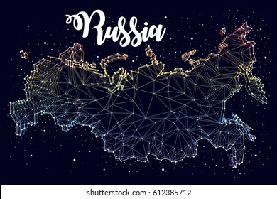 constellation. Russian maps, vector