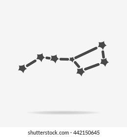 Constellation Ursa Major (Big Dipper) icon. Vector concept illustration for design.