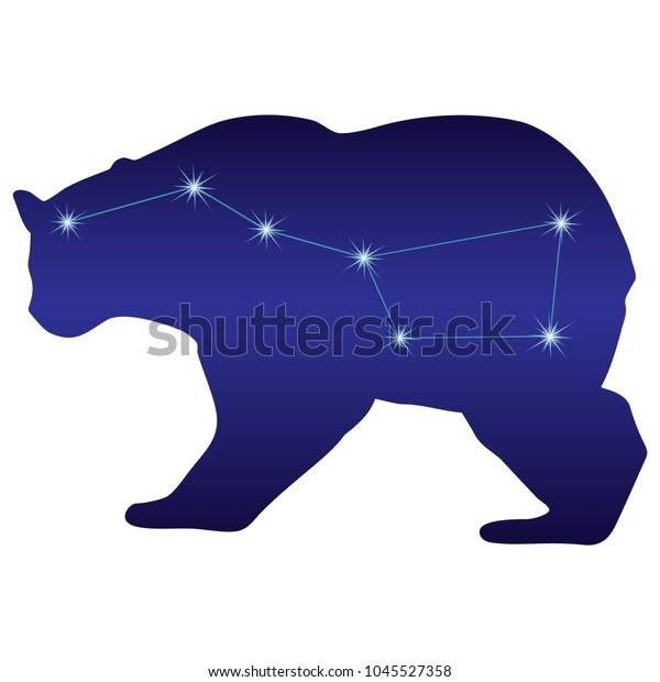 Картинка большая медведица для детей на прозрачном фоне