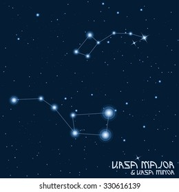 """Constellations """"Ursa Major"""" and """"Ursa Minor"""""""