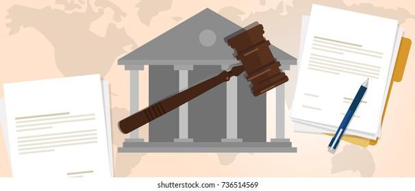 constitutional law verdict case legal gavel wooden hammer crime supreme court auction symbol