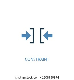 constraint concept 2 colored icon. Simple blue element illustration. constraint concept symbol design. Can be used for web and mobile UI/UX