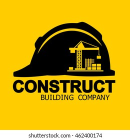 Construct building logo, Industrial working concept icons vector.
