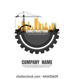 Construct building logo. Vector