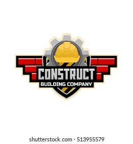 Construct logo emblem template