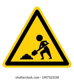 Construction Area Symbol Sign, Vector Illustration, Isolate On White Background Label. EPS10