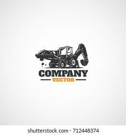 Construction Backhoe Tractor.