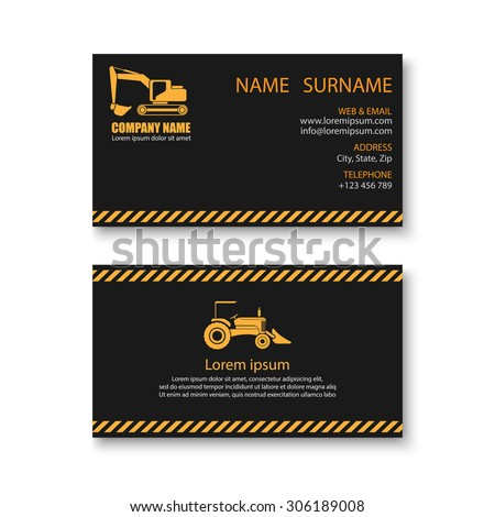 Construction business card templatevector stock vector royalty free construction business card templatevector accmission Gallery