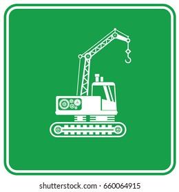 Construction car icon design,clean vector