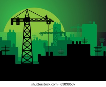 Construction in a city