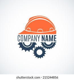 Construction conceptual logo. Perfect for your presentations, background, brochures and banners. Vector illustration