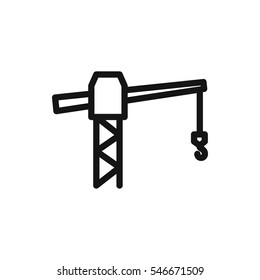 construction crane icon illustration isolated vector sign symbol