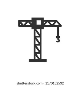 Construction crane. monochrome icon