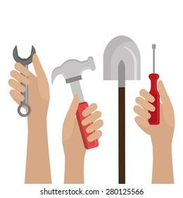 Construction design over white background ,vector illustration.