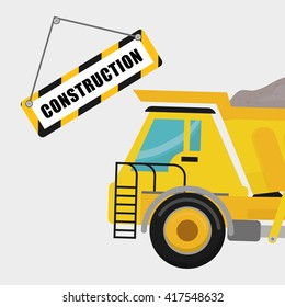 Construction design. work icon. repair concept, vector illustration