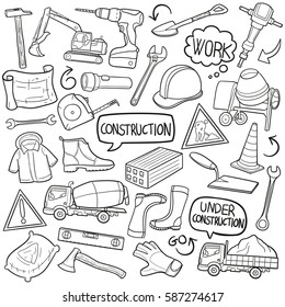 Construction Doodle Icon Vector Art