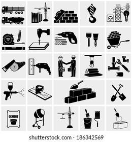 Construction,  construction equipment icons