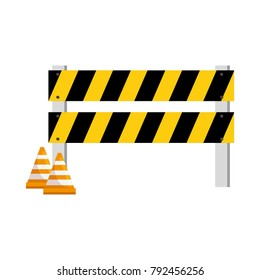 construction fence with cone