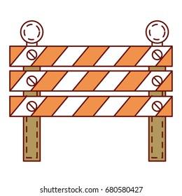 construction fence signal icon