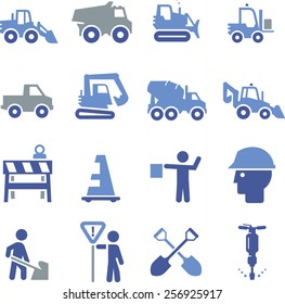 Construction and heavy equipment icons