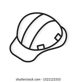construction helmet icon- vector illustration