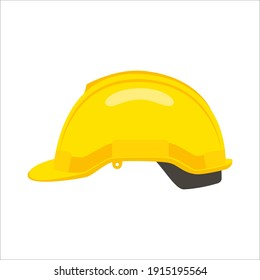 Construction helmet icon. yellow hard hat worker safety isolated on white background. can be used helmet icon for web and mobile phone apps. Vector illustration in flat style