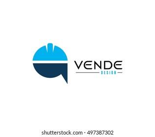 Construction helmet  logo