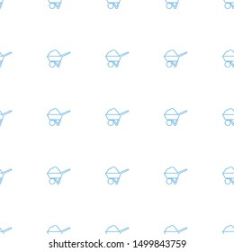 construction icon pattern seamless white background. Editable line construction icon. construction icon pattern for web and mobile.