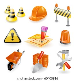 Construction icon set. Vector