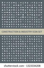 Construction icon set vector design