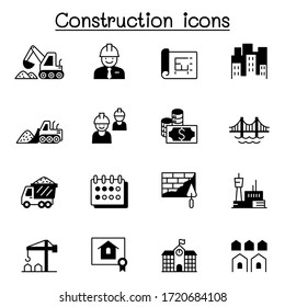 Construction icons set vector illustration graphic design