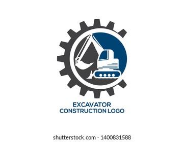 Construction logo design,  excavator logo