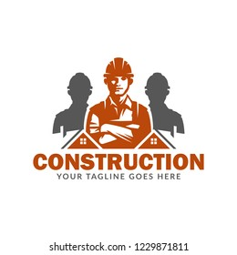 Construction logo template, suitable for construction company brand, vector format and easy to edit