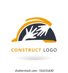 Construction logo template.Under construction conceptual logo. Perfect for your presentations, background, brochures and banners. Vector illustration