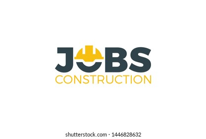 Construction Logo In Wordmark Style With Helmet Construction Symbol