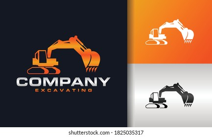 the construction machine excavator logo