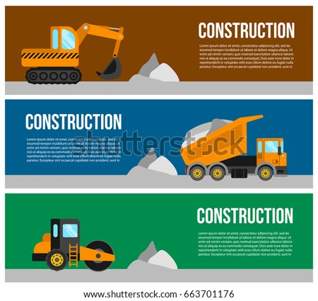 Construction Equipment Banners Investment Banking Banners