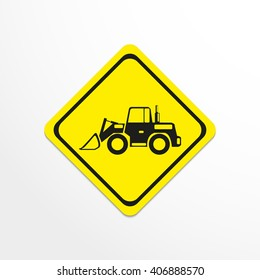 Construction machinery. Loader. Vector icon.